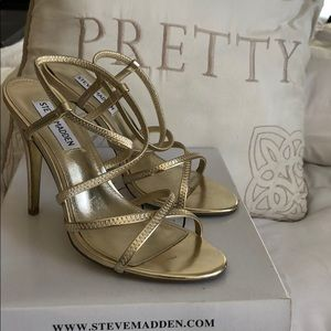 Steve Madden Gold Metal High Heels
